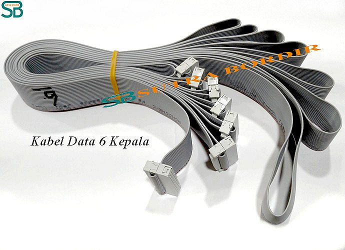 Kabel Data Bordir 6 Kepala (Kabel Abu Abu)